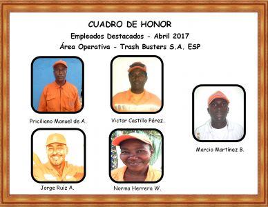 Reconocimiento empleados Abril 2017