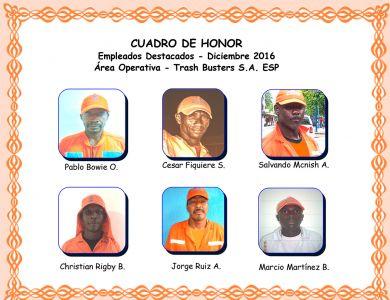 Reconocimiento empleados Diciembre 2016
