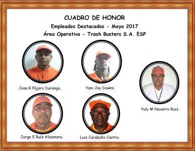 Reconocimiento empleados Mayo 2017